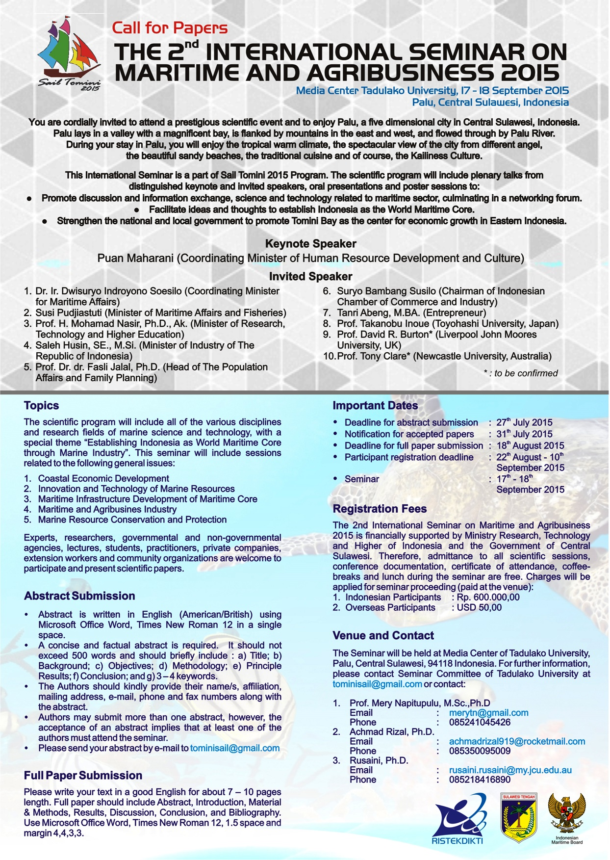 THE 2nd INTERNATIONAL SEMINAR ON MARITIME AND AGRIBUSINESS 2015