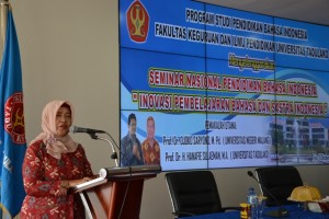 Ketua Panitia, Dr Hj Nurhaya Kangiden MSi (Foto Taqyuddin Bakri)
