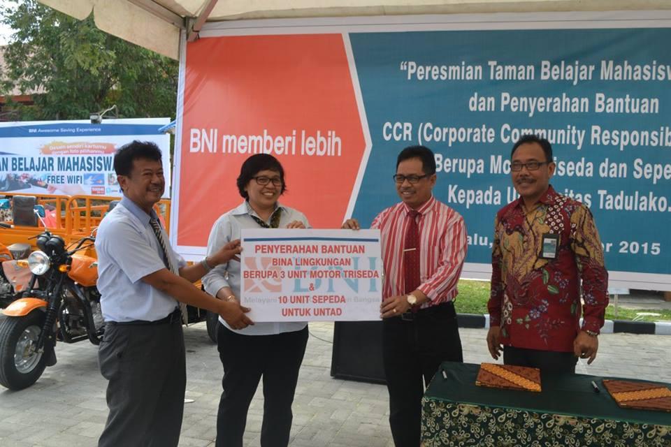 Peresmian Taman Belajar dan Penyerahan CCR BNI