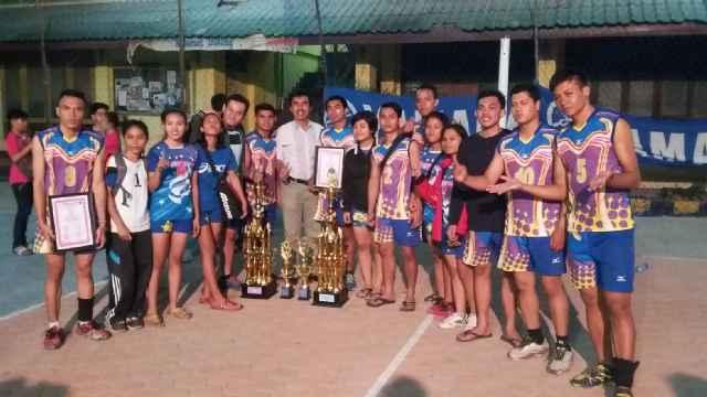 Tim Volly Fkip Untad Berhasil Merebut Piala Bergilir STIE Volly Cup