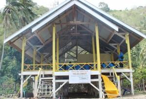 Rumah adat Yelelumut suku Lauje (Foto: Doc. zl)