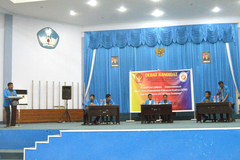 Debat Kandidat Calon Ketua dan Wakil Ketua BEM Untad