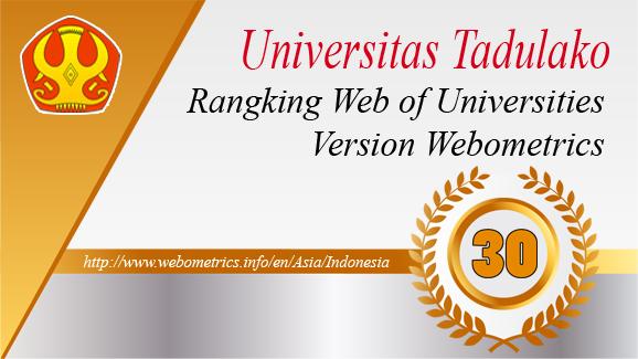 Untad Raih Peringkat 30 dalam Webometrics