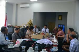 Rapat pimpinan, turut hadir pula Kepala UPT Natalita, Kepala UPT Security, dan Koordinator Komandan Security (Foto Akhmad Usmar)