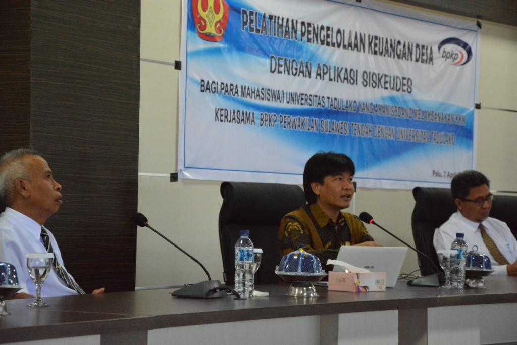 Wujudkan Siskeudes, BPKP Sulawesi Tengah Gandeng Untad