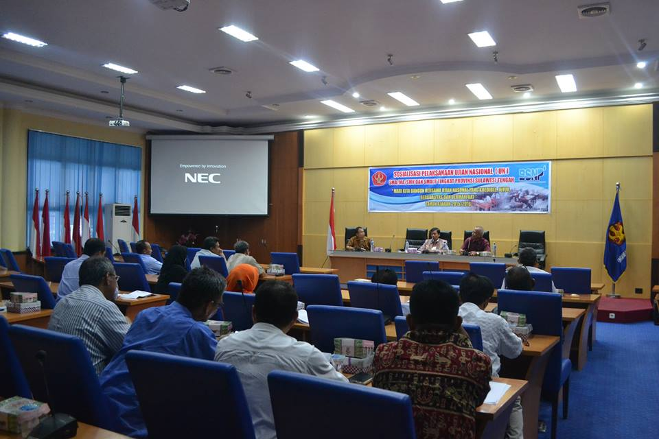 Sosialisasi Pelaksanaan UN SMA/MA/SMK dan SMALB di Untad