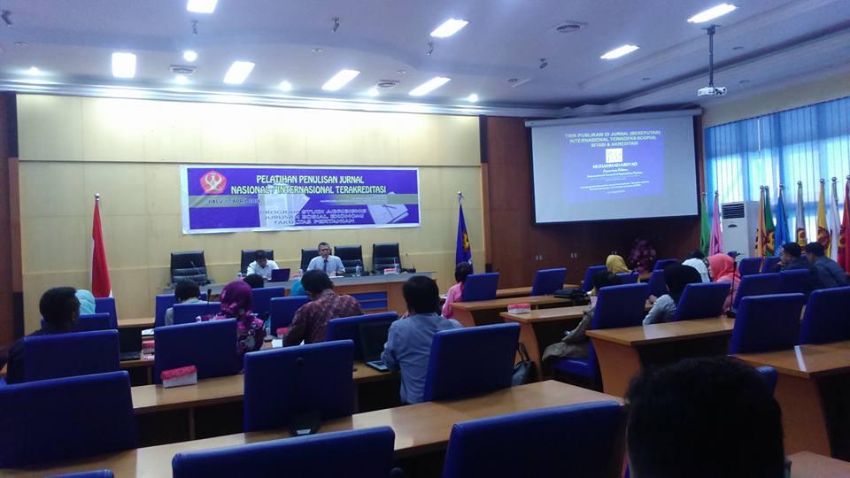 Prodi Agribisnis Laksanakan Pelatihan Penulisan Jurnal