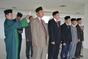 Pengambilan Sumpah Jabatan Pejabat yang Dilantik (Foto Taqyuddin Bakri)