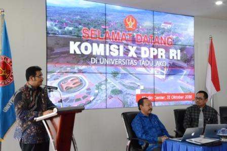 Komisi X DPR RI Lakukan Kunjungan Kerja ke Untad