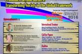 TADULAKO INTERNATIONAL SEMINAR ON ECONOMICS 2016