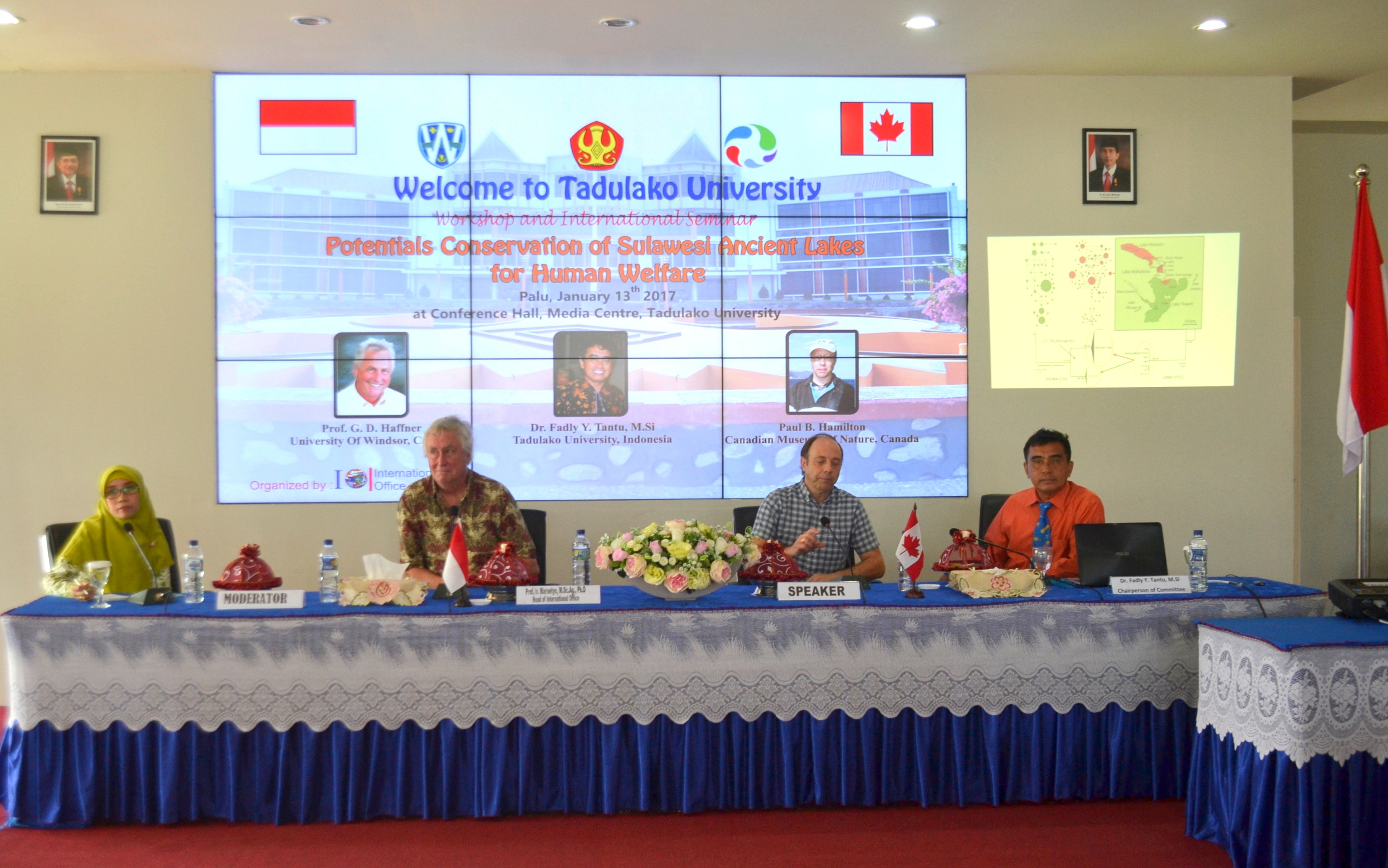 International Office Adakan Seminar Internasional Tentang Potensi Danau Purba di Sulawesi