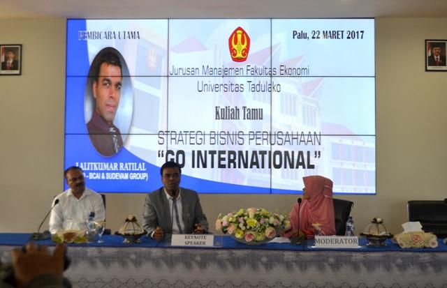 Jurusan Managemen FEKON Hadirkan Investor Asal India Dalam Kuliah Tamu Bertemakan Bisnis Go International