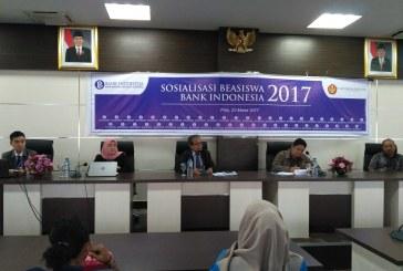 Bank Indonesia Cabang Sulteng Sosialisasikan Beasiswa Untuk Mahasiswa Untad