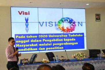 Paparkan Visi Untad, Rektor : Pentingnya Persamaan Persepsi Untuk Visi Untad 2020