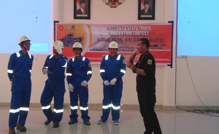 Himpunan Mahasiswa Teknik Sipil Untad Selenggarakan National Steel Truss Innovation Contest