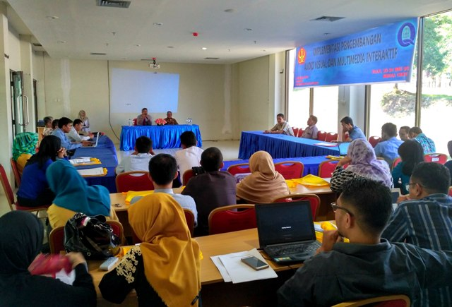 LPPMP Untad Gelar Workshop Implementasi Pengembangan Audio Visual dan Multimedia Interaktif