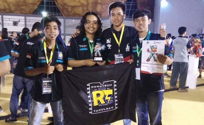 Tim Robotik Untad Raih Kategori Desain Terbaik Di Kontes Robot Indonesia 2017 Bandung