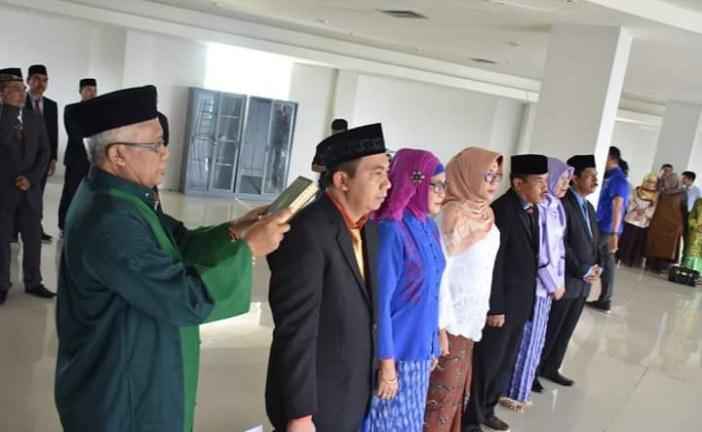 Rektor Untad Lantik Tiga Wakil Dekan FISIP Periode 2017-2021 serta Pejabat Pengelola UPT Komisi Disiplin