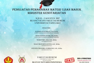 WORKSHOP PENGUATAN PEMAHAMAN MATERI UJIAN MASUK MAGISTER KENOTARIATAN
