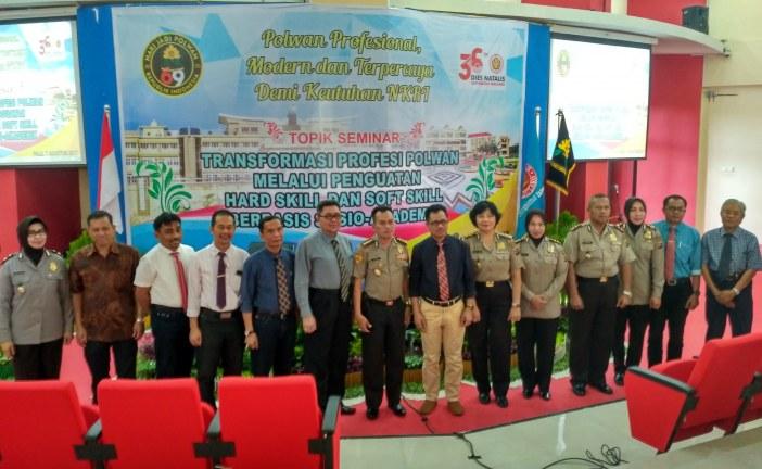 Polda Sulteng Bersama Untad Selenggarakan Seminar Ilmiah Bertajuk Peningkatan Hard & Softskill Abdi Negara Polwan