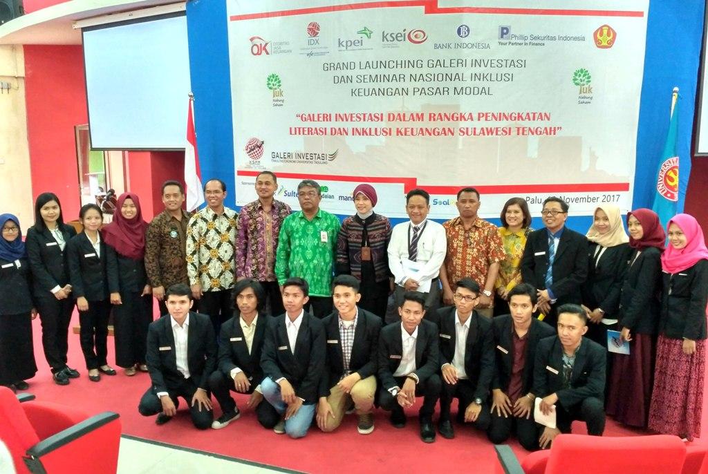 Grand Launching Galeri Investasi Dan Seminar Nasional Inklusi Keuangan Pasar Modal Di Untad