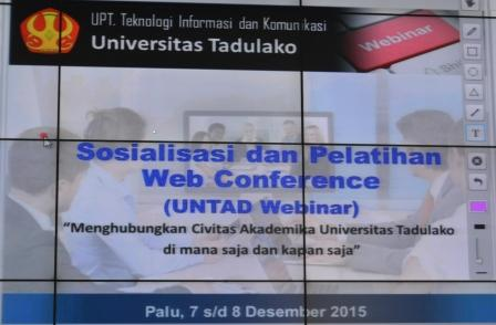 UPT TIK Sosialisasikan UNTAD Webinar