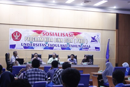 Sosialisasi Program Hibah Bina Desa 2016