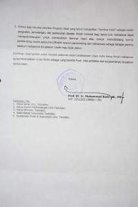 Surat Edaran Rektor tentang Terminologi Kebulatan Studi (Lembar Kedua)
