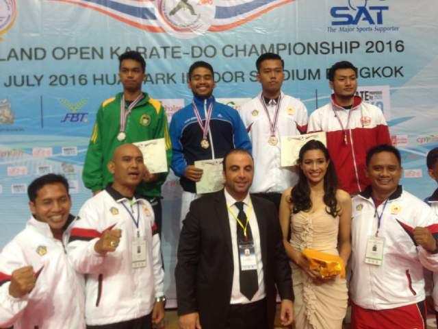 Mahasiswa Untad Rebut Medali Emas di Kejuaraan Karate Internasional