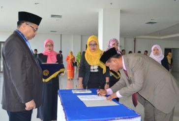 Rektor Lantik Kabag Perencanaan BAKP Untad