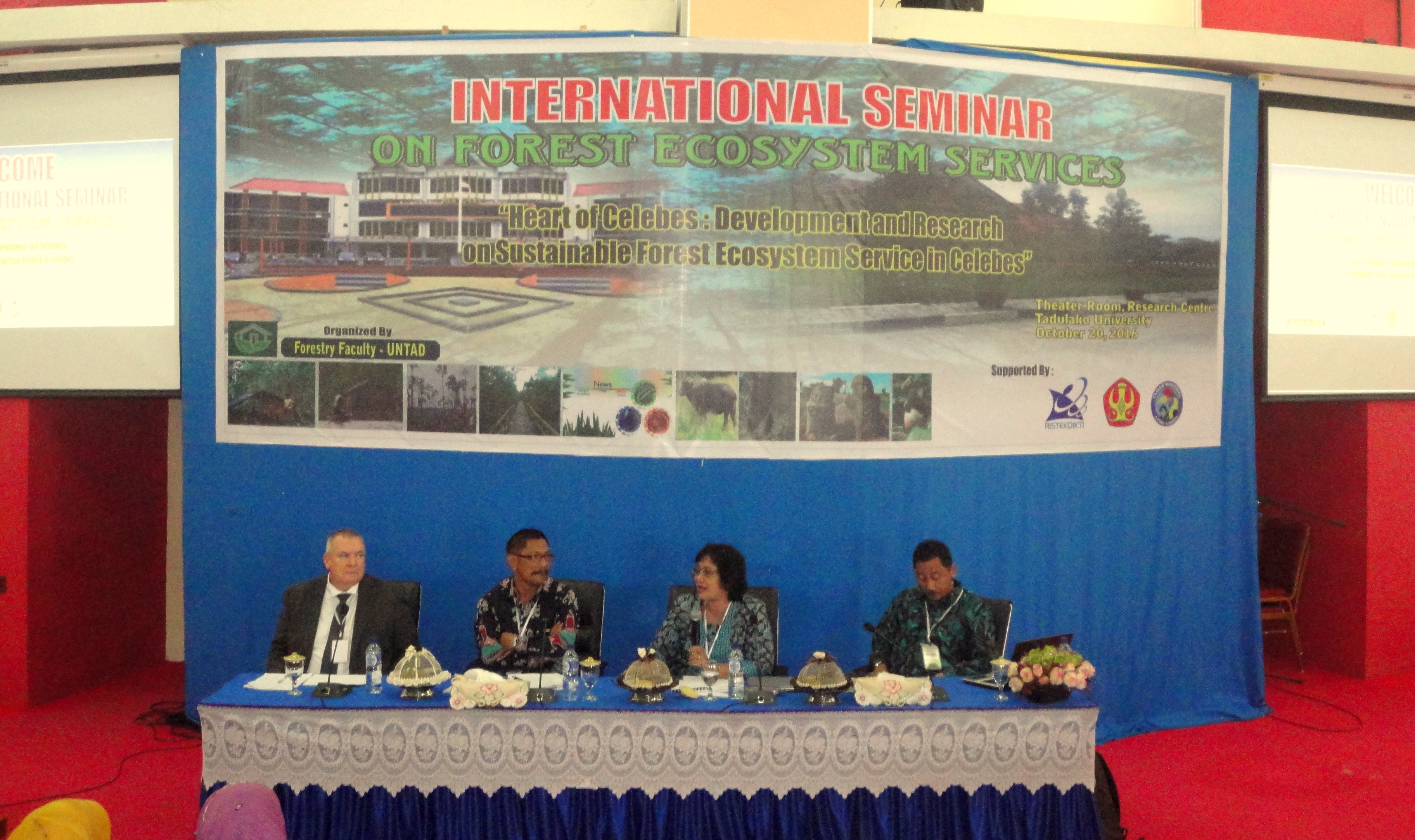 Faculty of Forestry Universitas Tadulako Held International Seminar About Forest Ecosystem in Central Sulwesi