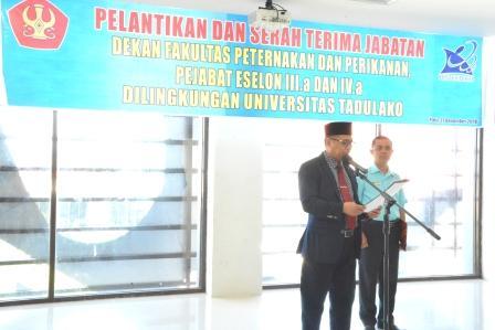 Rektor Lantik Dekan Fapetkan dan Enam Pejabat Struktural