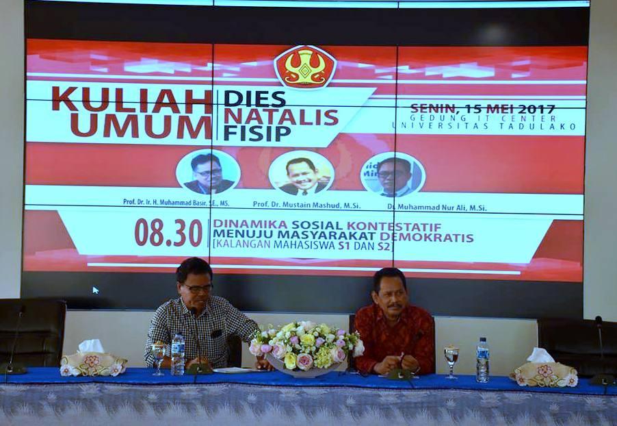 Kuliah Umum Dies Natalies FISIP Untad Hadirkan Pakar Sosiologi Asal UNAIR