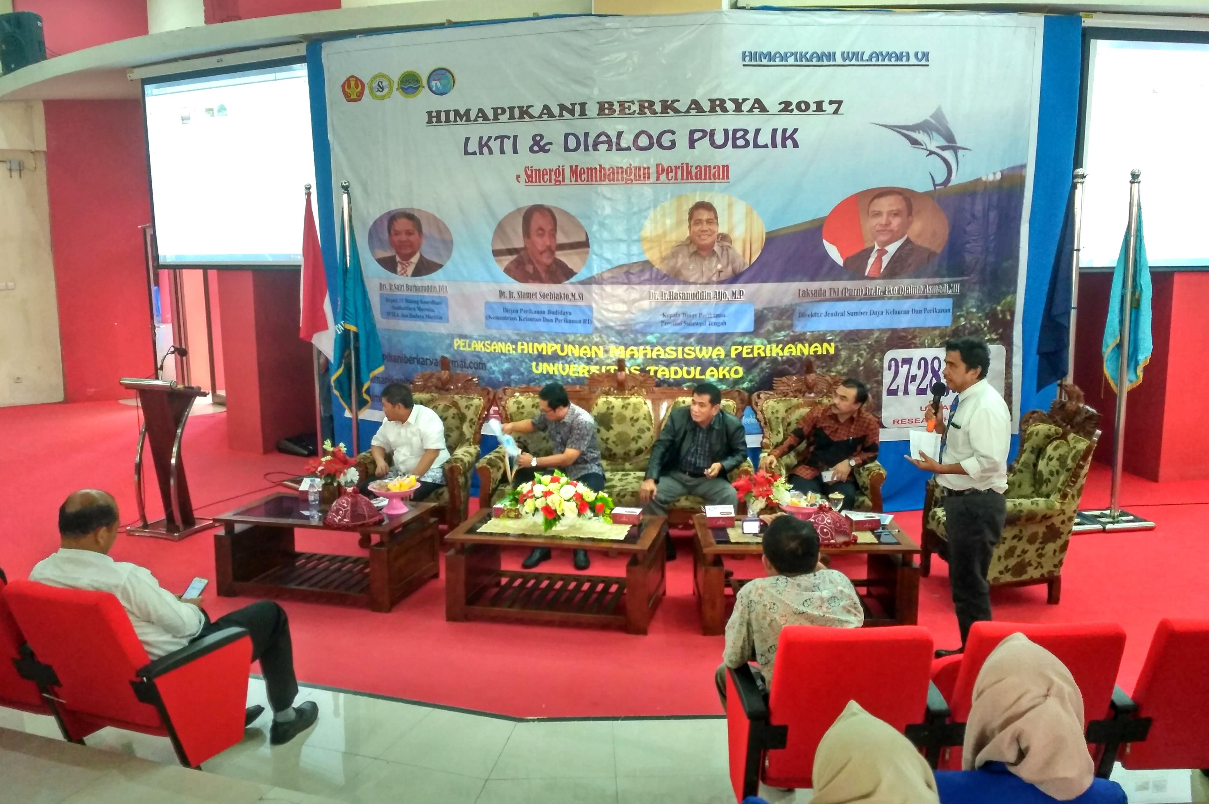 Untad Jadi Tuan Rumah Dialog Publik Himpunan Mahasiswa Perikanan Indonesia Regional VI