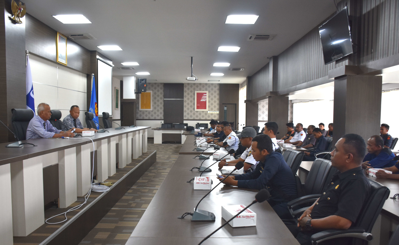 Rapat Koordinasi Pengamanan Area Untad Bersama UPT Natalita Dan UPT Security Untad