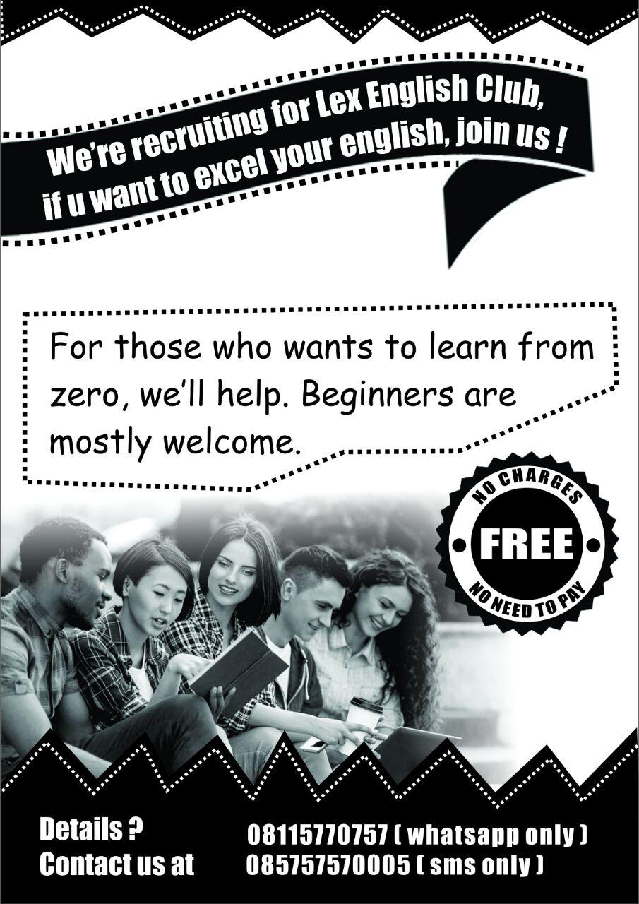 LEX English Club Open Recruitment