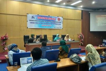 LPPM Sosialisasikan Panduan Penelitian Dan Pengabdian Mandiri Untuk Para Peneliti Untad