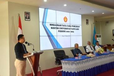 Universitas Tadulako Sosialisasikan Tata Cara Pemilihan Rektor Untad Periode 2019 – 2023