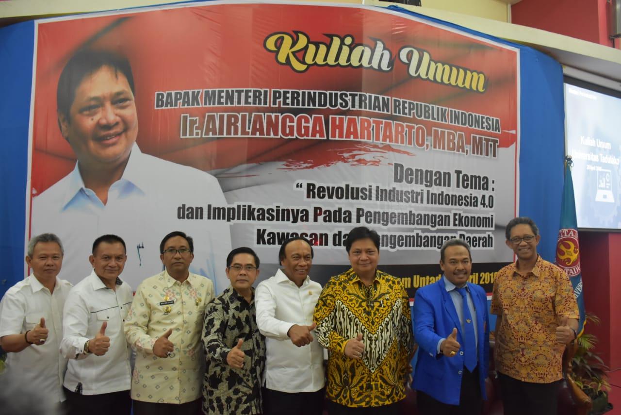 Menteri Perindustrian Republik Indonesia Beri Kuliah Umum Tentang Revolusi Industri 4.0 Di Untad