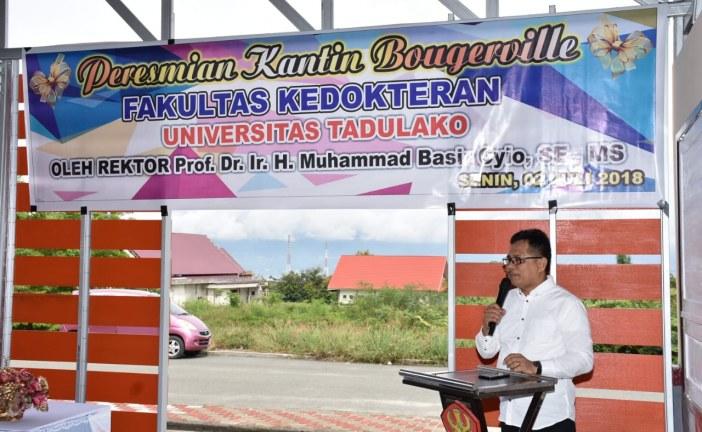 Rektor Untad Resmikan Sembilan Kantin Baru di Wilayah Universitas Tadulako