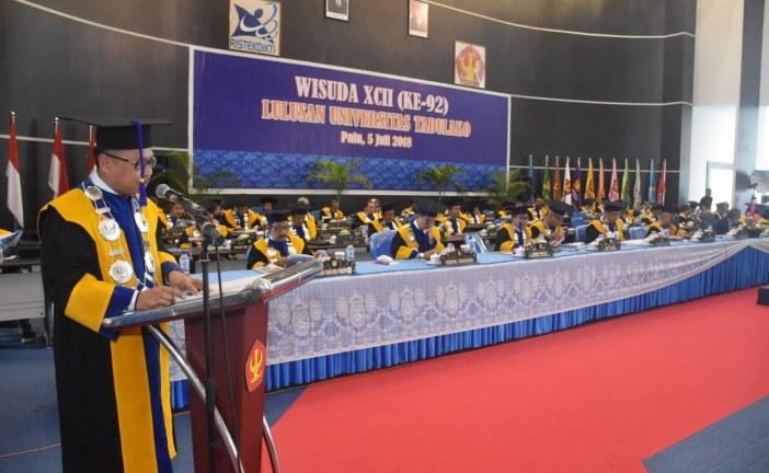 Wisuda Angkatan 92 Alumni Untad Berjumlah 1.071 Orang