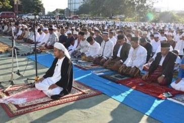 Usai Sholat Idul Adha 1439 H, Civitas Akademika Untad Gelar Halal Bi Halal
