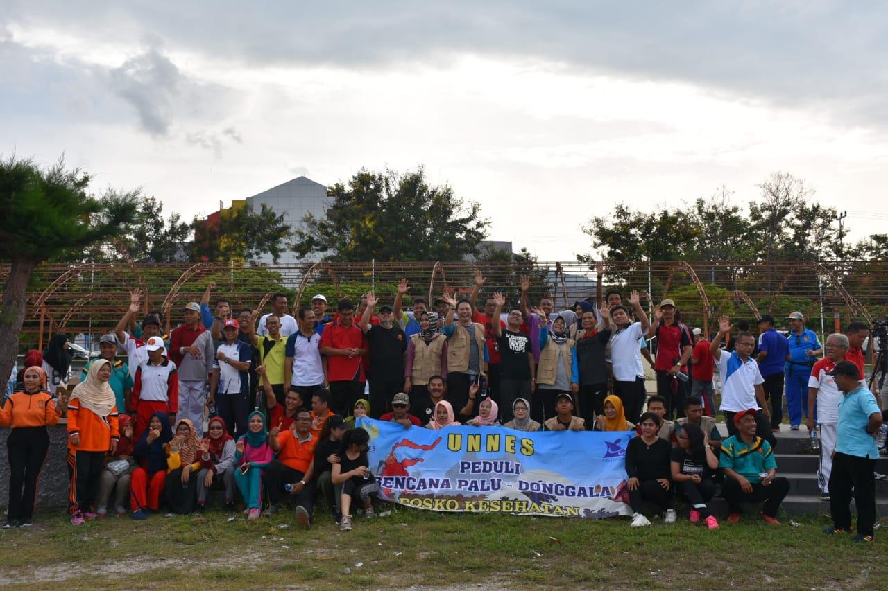 Bangkitkan Semangat Pasca Gempa, Universitas Tadulako Gelar Senam Massal 'Untad Bangkit'