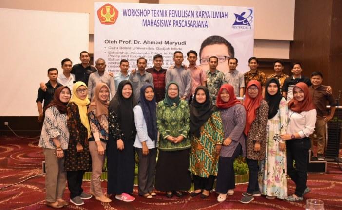 Prodi Magister Ilmu Pertanian Untad Gelar Workshop Teknik Penulisan Karya Tulis Ilmiah