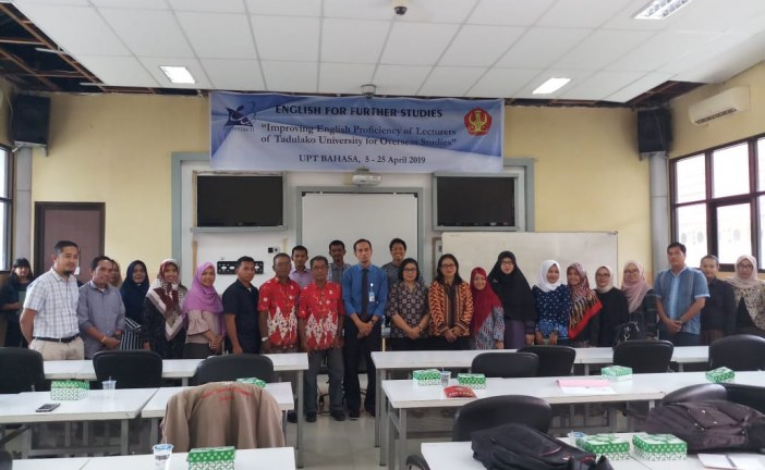 UPT. Bahasa Kembali Gelar Kursus Intensif Bahasa Inggris Bagi Dosen Untad