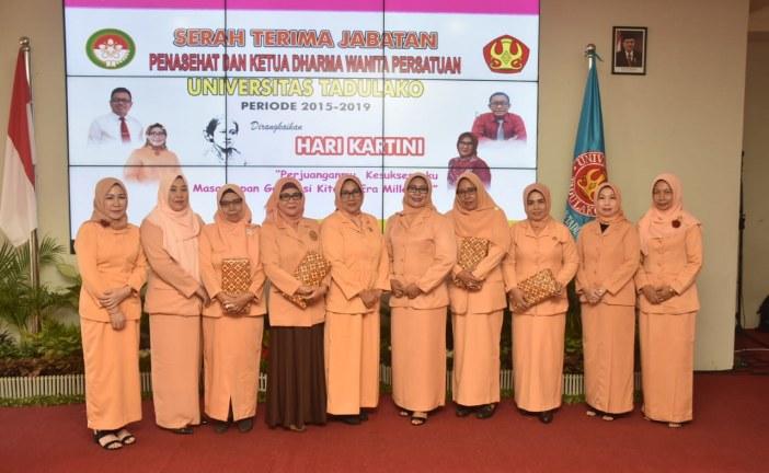 Dharma Wanita Persatuan Untad Gelar Serah Terima Jabatan Ketua DW Periode 2019-2023
