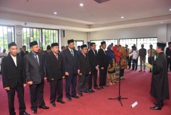 Rektor Lantik Wakil Dekan FATEK & FMIPA Beserta Pejabat Untad Lainnya