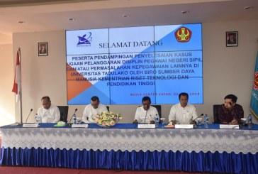 Biro SDM Ristekdikti Beri Pendampingan Kasus Dugaan Pelanggaran Disiplin PNS & Permasalahan Kepegawaian Di Untad