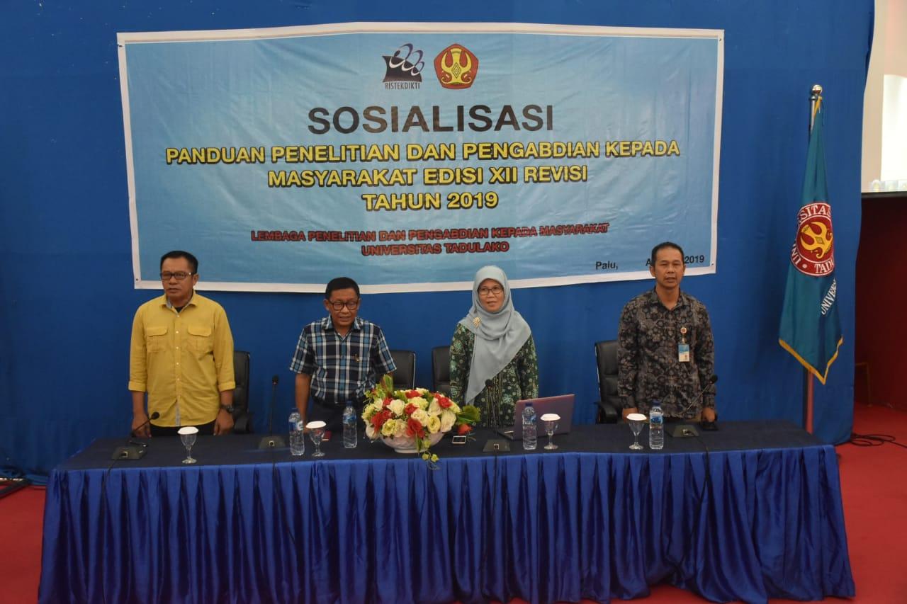 Ristekdikti Bersama LPPM Untad Sosialisasikan Panduan Penelitian & Pengabdian Kepada Masyarakat Edisi XII Revisi Tahun 2019