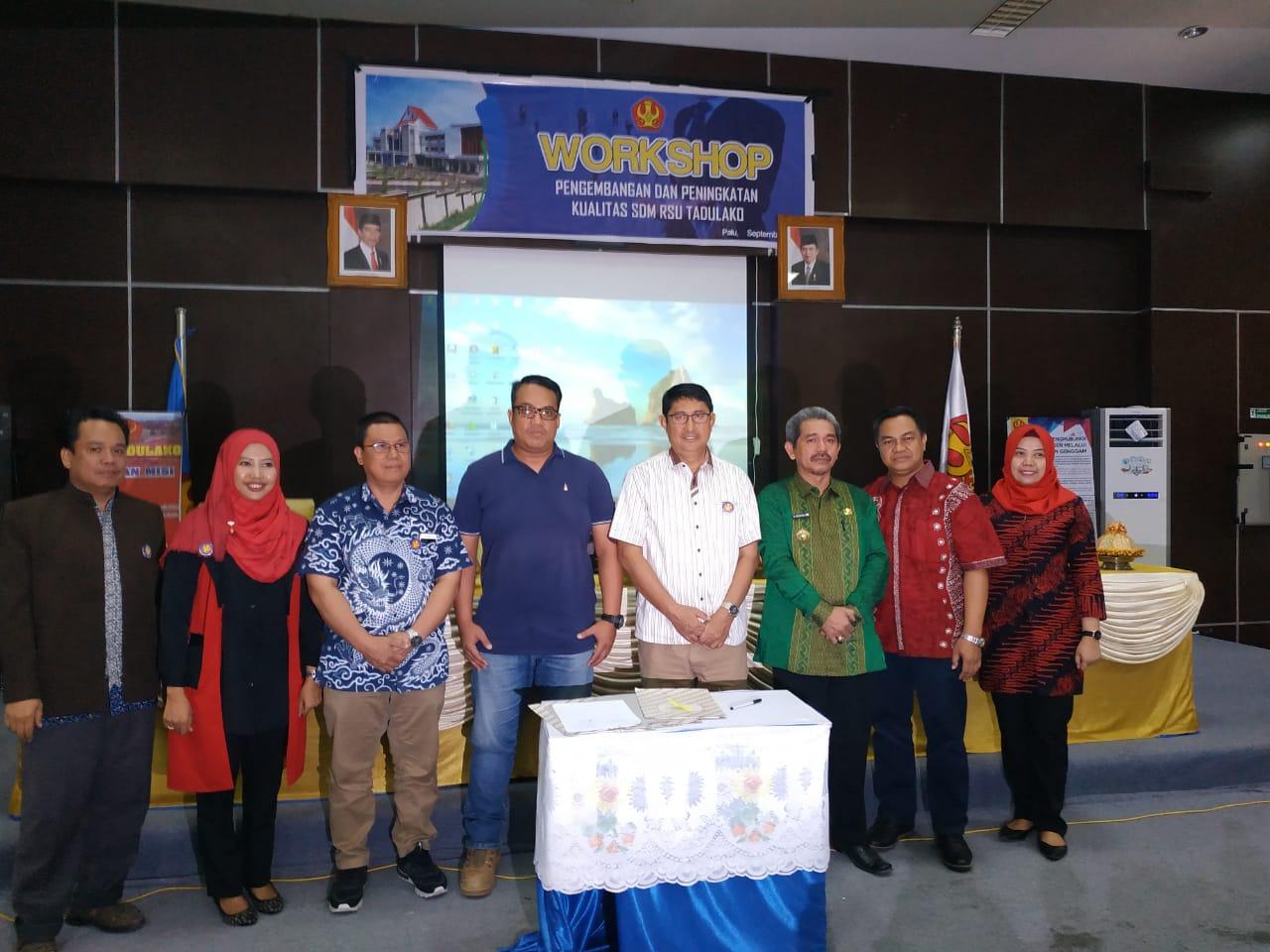 RSU Tadulako Gelar Workshop Pengembangan & Peningkatan Kualitas Sumber Daya Manusia